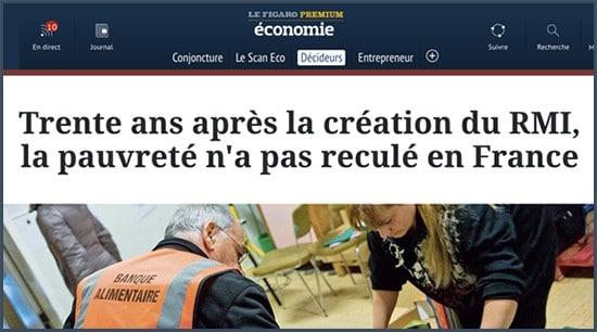pauvreté - France - RMI - RSA - Insee