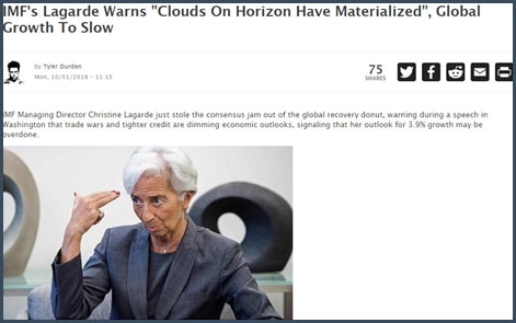Christine Lagarde -  FMI - croissance mondiale