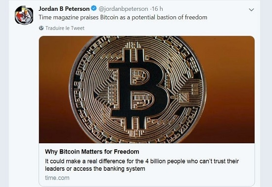 Jordan Peterson - bitcoin - Time Magazine