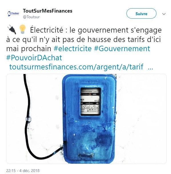 tarif - électricité - EDF