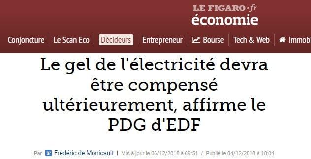 électricité - EDF - Figaro