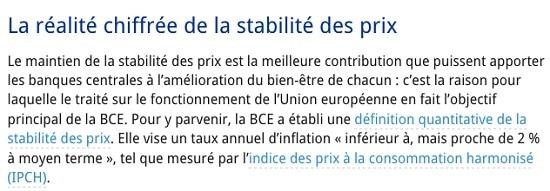 BCE - Banque centrale européeenne - IPCH