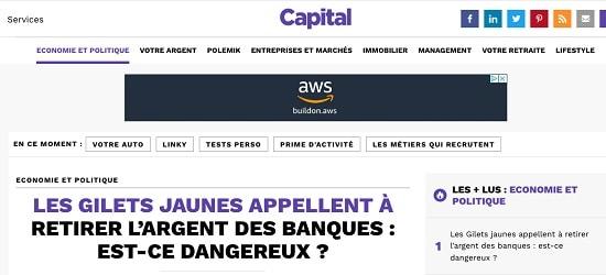 Capital - Gilets jaunes - Maxime Nicolle