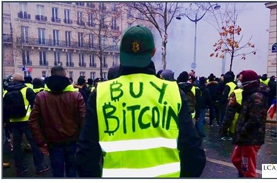 Bitcoin - Gilets jaunes