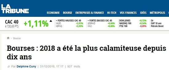 La Tribune - Bourse - 2018