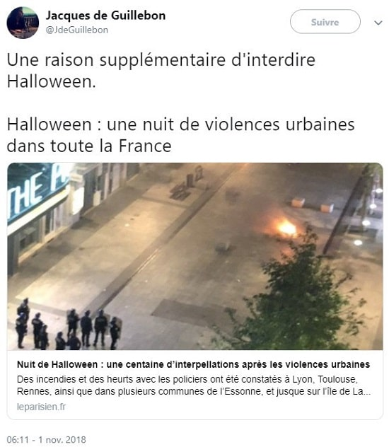 halloween - violences urbaines