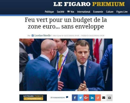 Figaro - budget - zone euro