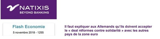 Natixis - Allemagne - zone euro