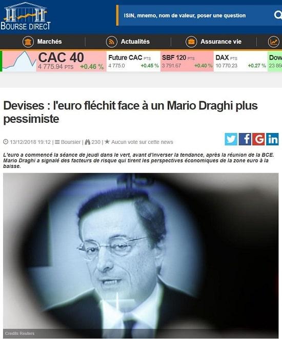 Mario Draghi - BCE - devise euro