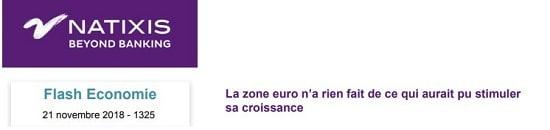 Natixis - zone euro - croissance