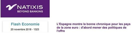 Natixis - Espagne - zone euro