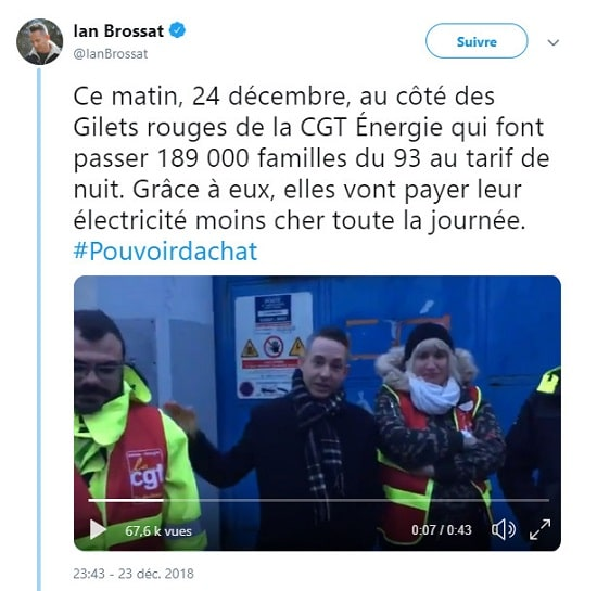 Ian Brossat - Gilets rouges de la CGT Energie