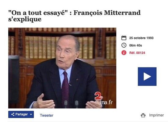 François Mitterand - chômage