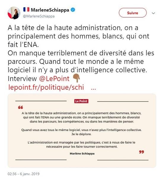 Marlène Schiappa - ENA - égalité hommes femmes