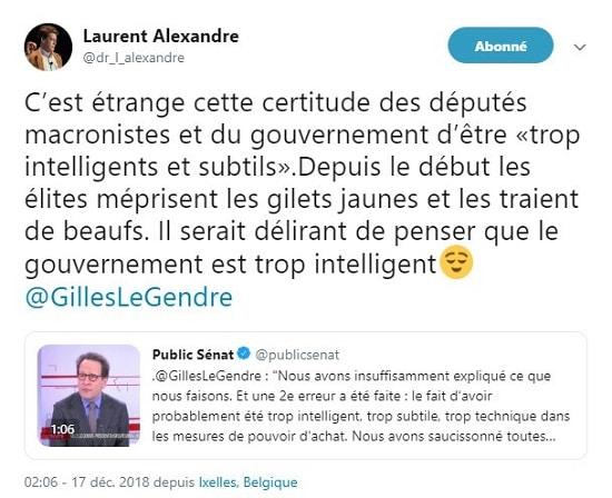 Gilles Legendre - LREM - gilets jaunes