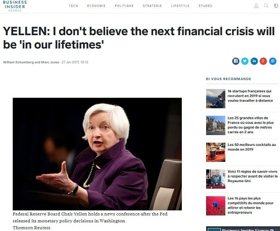 crise financi-re Janet Yellen -Fed