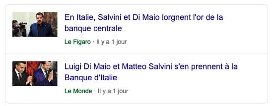 Italie - Salvini - Di Maio