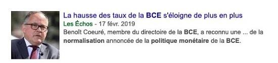 hausse des taux BCE Les Echos