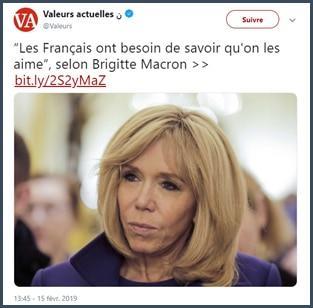 Brigitte Macron - Valeurs actuelles
