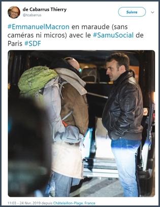 Macron - Samu social - SDF