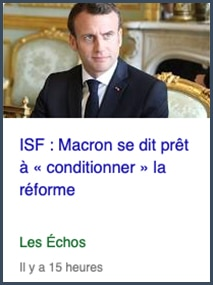 ISF Macron réforme conditionnée