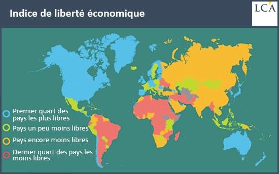 carte liberté économique par pays