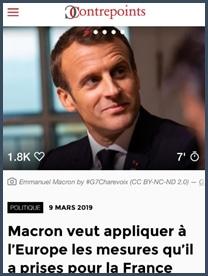 contrepoints Macron appliquer en Europe mesures prises en France