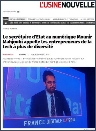 Mounir Mahjoubi appelle entrepreneurs tech plus diversité