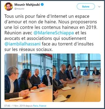 Mounir Mahjoubi tous unis internet amour