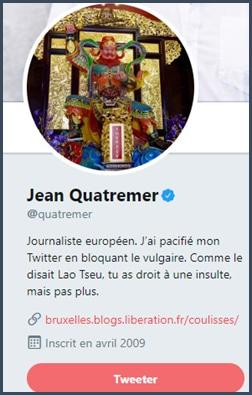 Bio Twitter Jean Quatremer