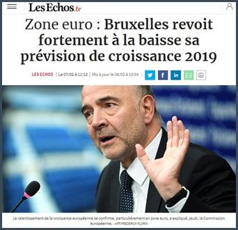 zone euro : bruxelles revoit à la baisse prévision de croissance 2019