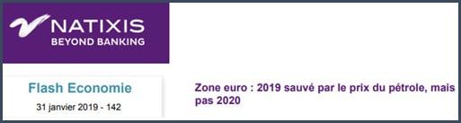 Natixis zone euro 2019 sauvé par le prix du pétrole pas 2020