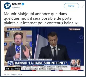 Mounir Mahjoubi annonce possibilité à venir de porter plainte pour contenus haineux