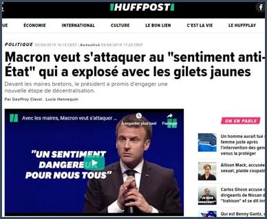 huffpost Macron veut s'attaquer au sentiment anti-Etat