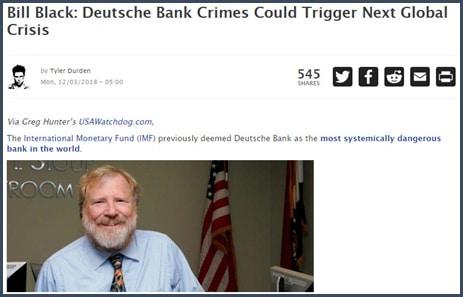 William Black soutient que les crimes de la Deutsche Bank pourraient déclencher la prochaine crise mondiale