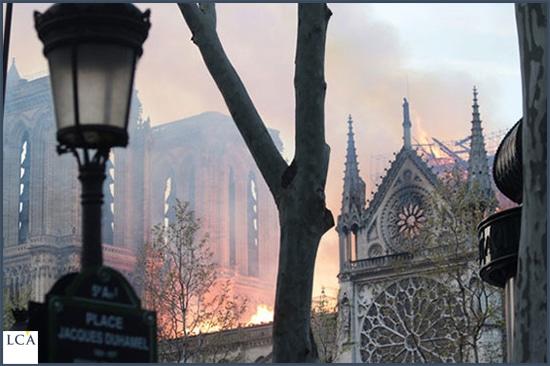 Toit de Notre-Dame en feu