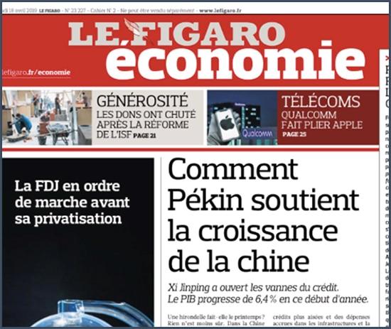 FIgaro comment pékin soutient la croissance de la Chine