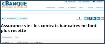 cBanque assurance-vie les contrats bancaires ne font plus recette