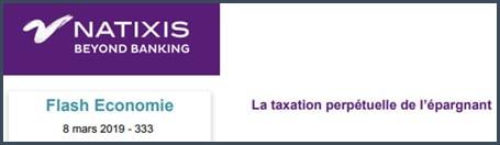 Natixis la taxation perpétuelle de l'épargnant