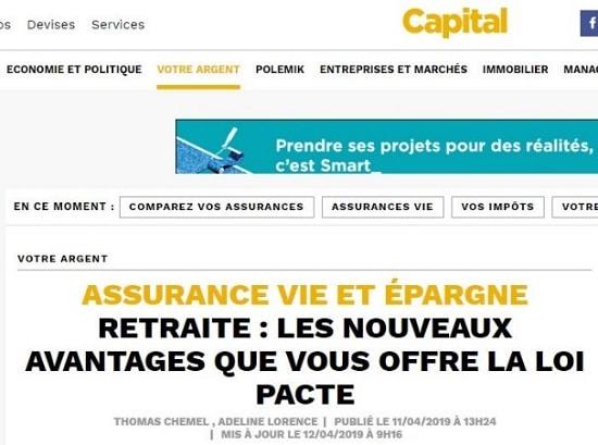Capital retraite les nouveaux avantages de la loi PACTE