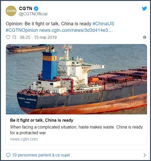 CGTB que ce soit pour parler ou se battre, la Chine est prête