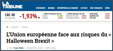La Tribune L'UE face aux risque du Halloween Brexit