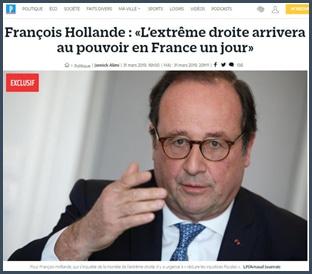 Parisien François Hollande extrême droite arrivera au pouvoir un jour