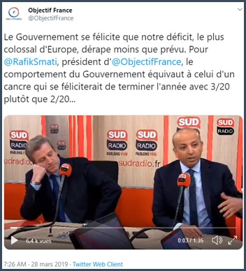 Objectif France le comportement du gouvernement équivaut à celui d'un cancre qui se féliciterait de terminer l'année avec 3/20 au lieu de 2/20