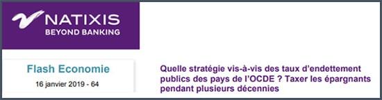 Natixis Quelle stratégie vis-à-vis des taux d'endettement public des pays de l'OCDE