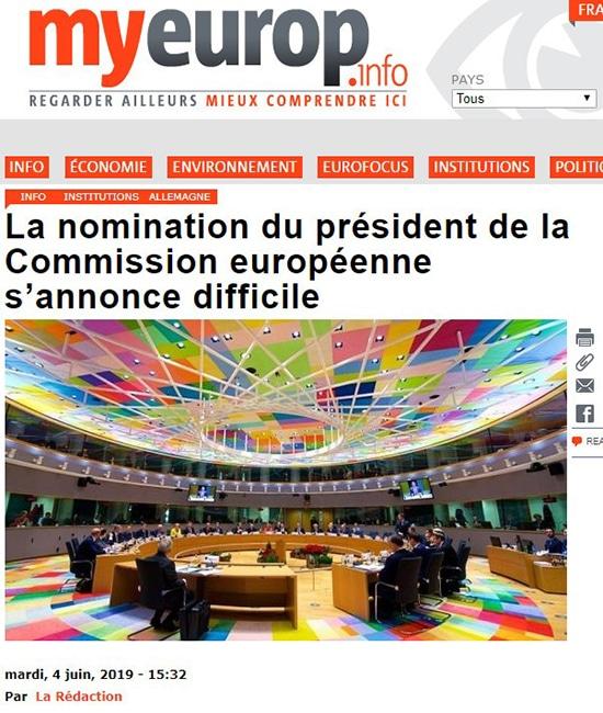 la nomination du président de la commission européenne s'annonce difficile