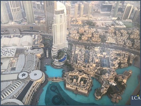 Vue du centre de Dubaï depuis le Burj Khalifa