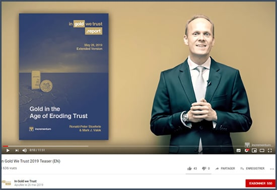 Vidéo introduction In Gold We Trust 2019