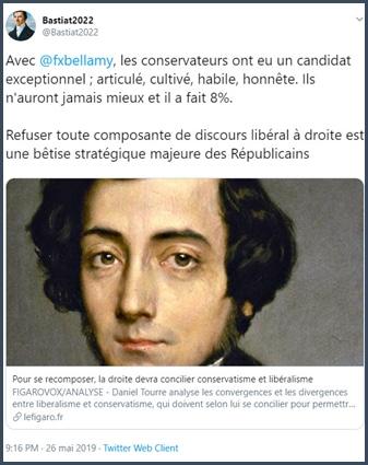 Tweet Bastiat2022 Avec Bellamy les conservateurs ont eu un candidat exceptionnel