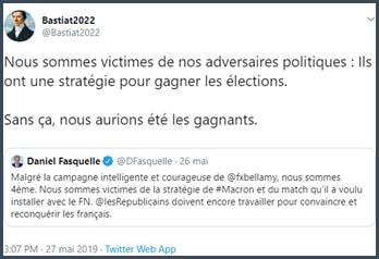 Tweet Bastiat2022 Nous somme victimes de nos adversaires politiques